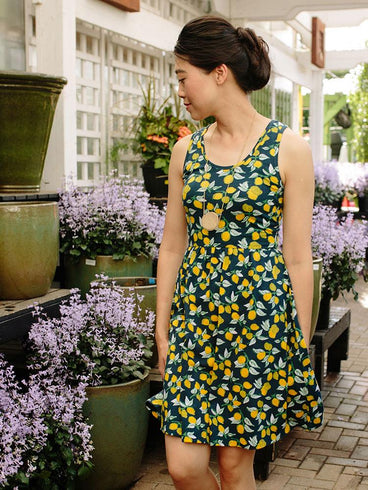 c55afef94bf65 Summer Sonnet Dress Lemons