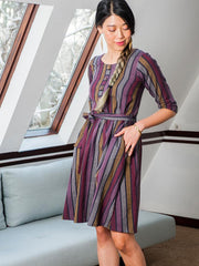 Taos Reversible Dress Multi Stripe