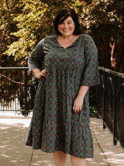 Thais Tiered Plus Size Dress Tapestry