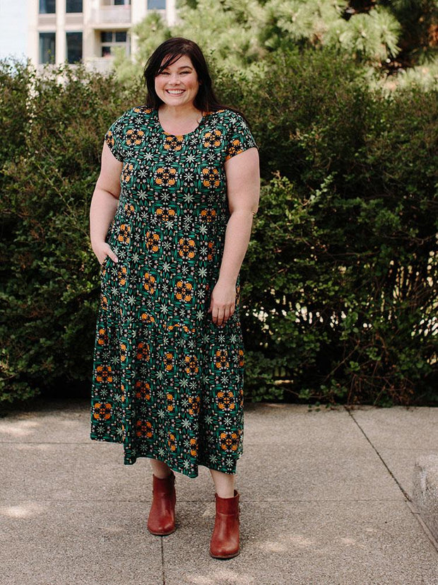 Tiered Jersey Plus Size Dress