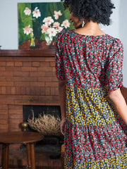 Tiered Midi Dress Multi