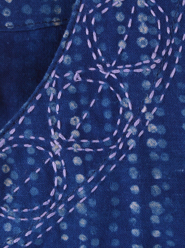 Tisbury Dress Indigo Dots