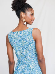Vignette Dress Blue Floral