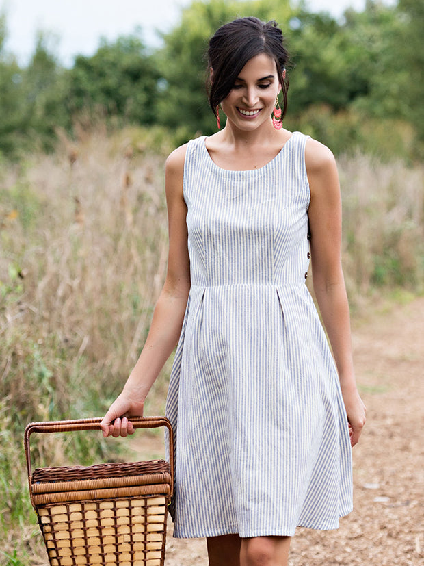Vignette Dress Stripes