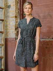 Whidby Shirtdress Black Shapes