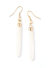 Layered Spike Earrings Cream