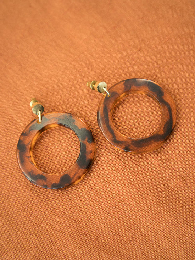 Abilene Hoop Earrings Tortoiseshell