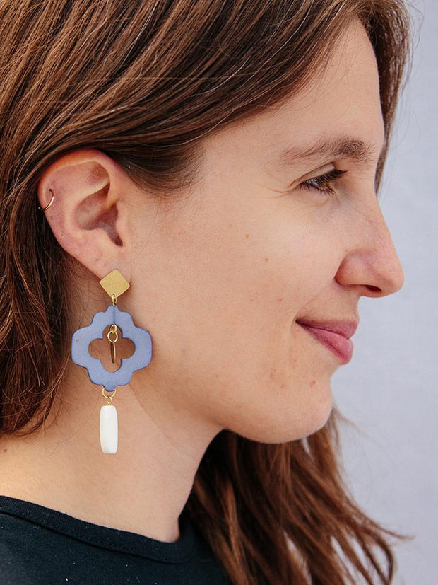 Agra Earrings Blue