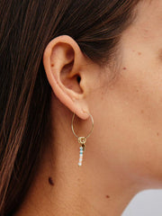 Americana Hoop Earrings Gold