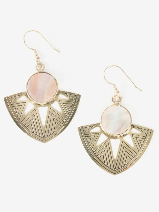 Astral Point Earrings Shell