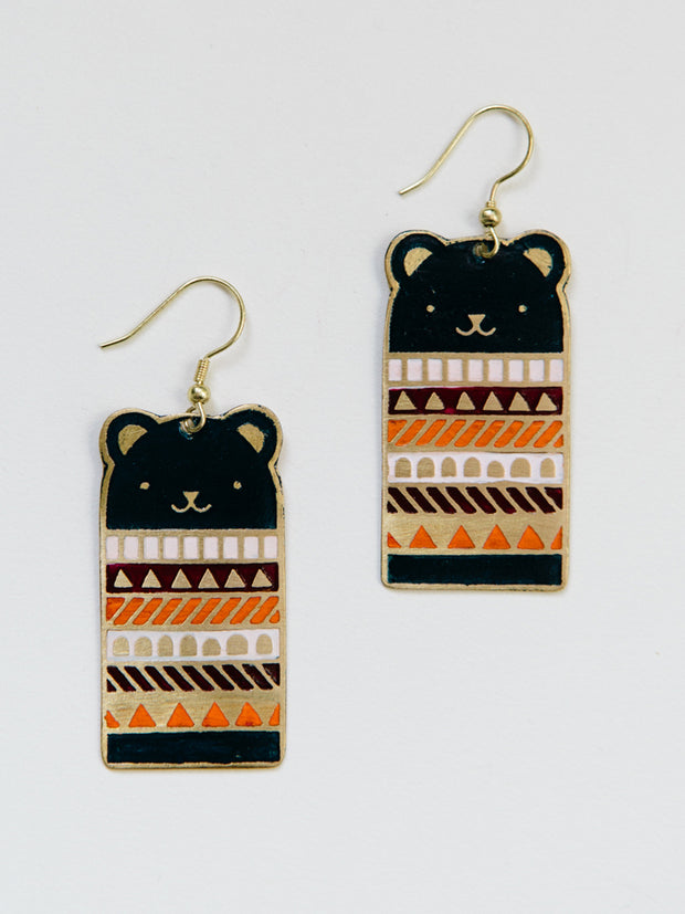 Bear Necessities Earrings Blue