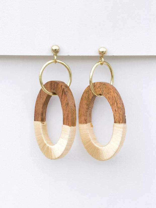 Berkeley Wood Earrings