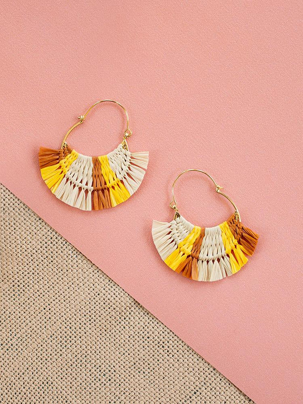 Caramel Hoop Earrings Yellow