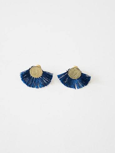 Carousel Earrings Navy