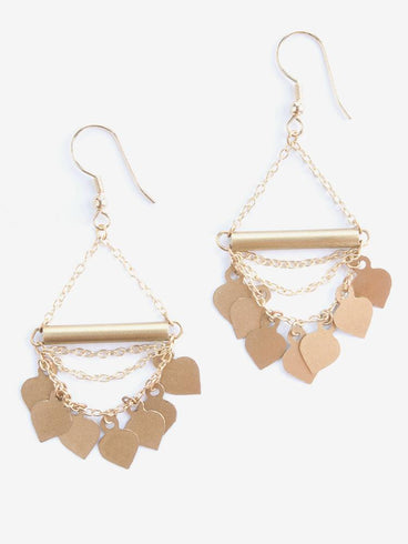 Chain of Spades Earrings Gold