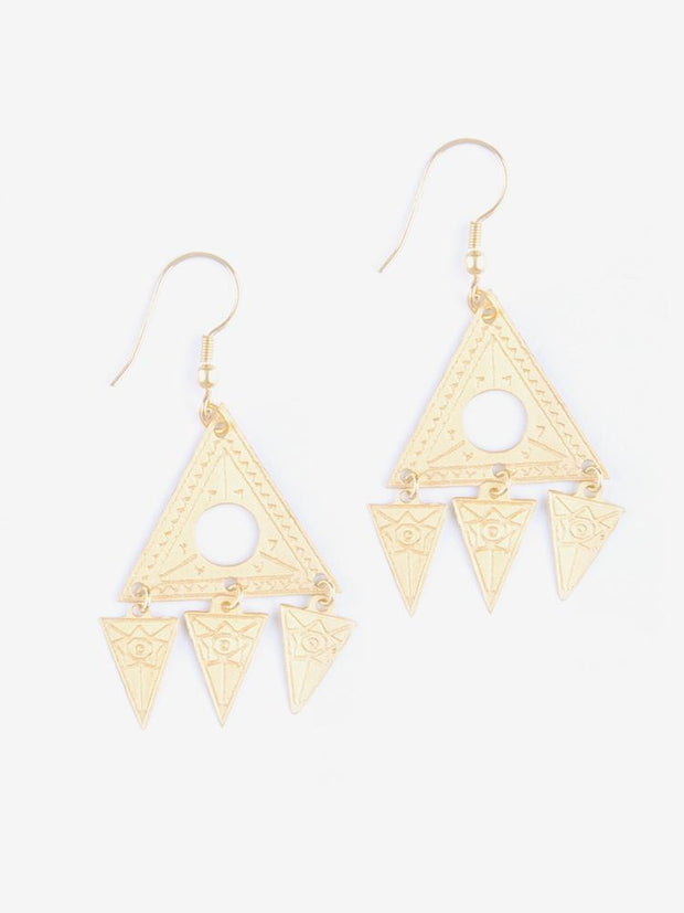 Cosmos Earrings Gold