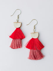 Cozumel Tassel Earrings Red