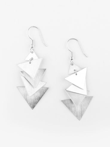 Crash Dance Earrings Silver