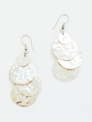 Deco Disc Earrings Silver