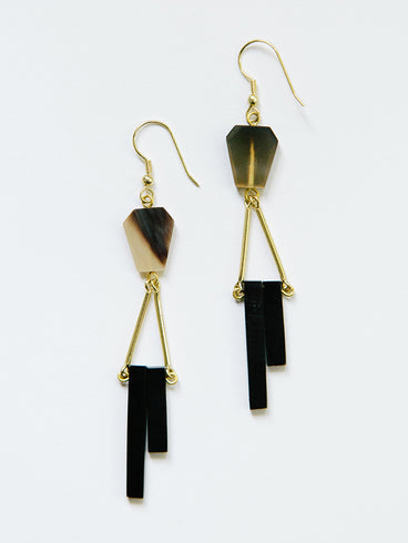 Delano Earrings Horn
