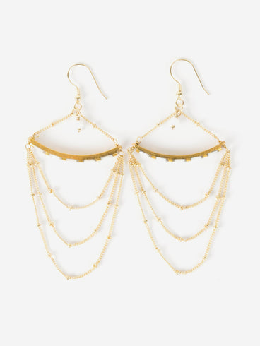 Delphi Earrings Gold