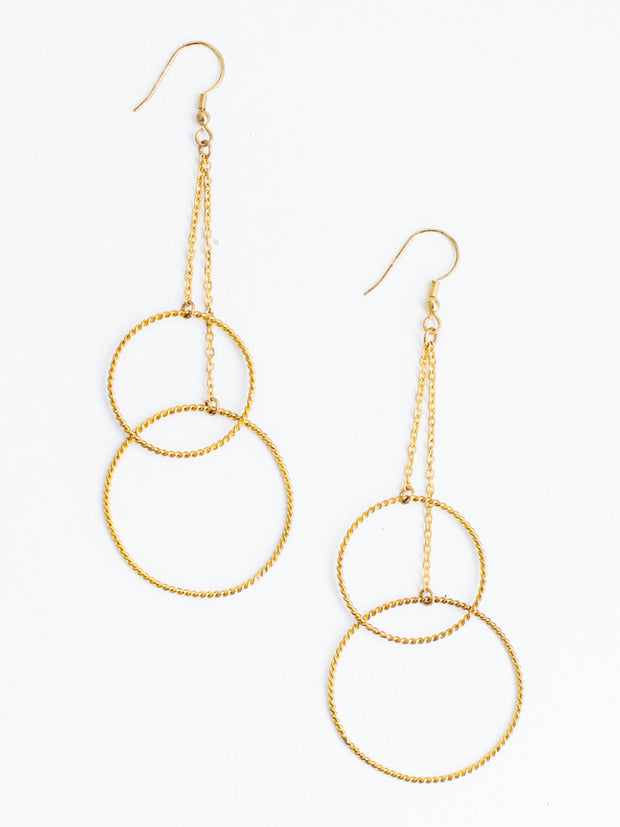 Double Down Earrings Gold