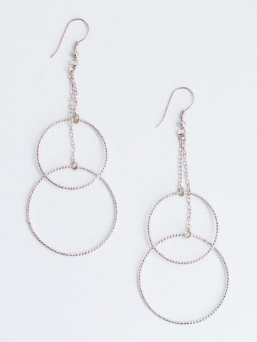 Double Down Earrings Silver