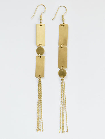Duster Earrings Gold