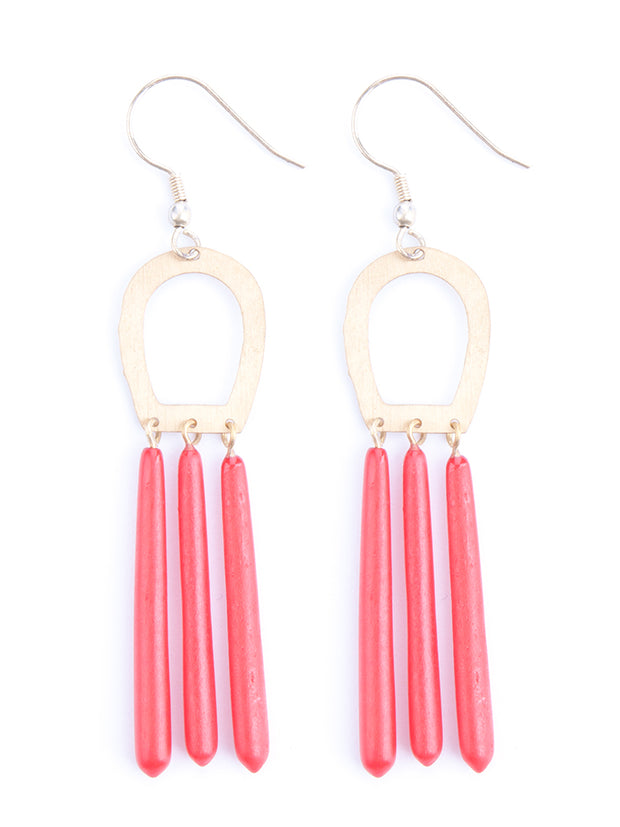 Empress Earrings Red