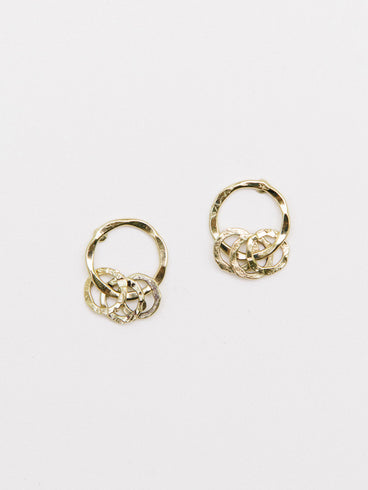 Encircled Studs Gold