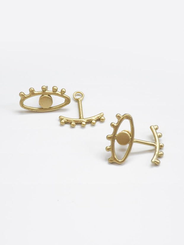 Eye to Eye Earrings Gold