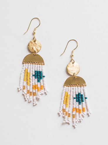 Festival Fringe Earrings Gold