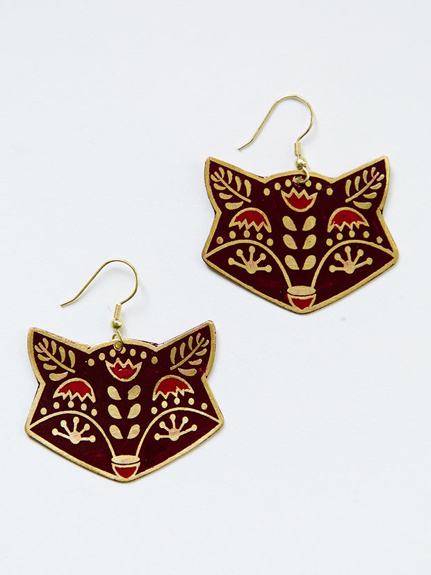 Fox Trot Earrings Red