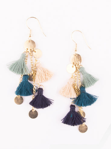 Fringe Frenzy Earrings Blue