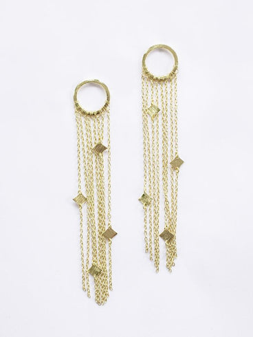 Hannah Duster Earrings Gold