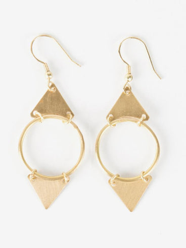 Isha Earrings Gold