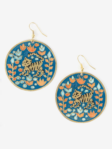 Jungle Jam Earrings Blue