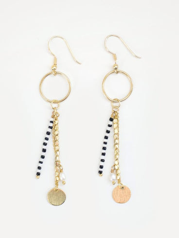 King Cobra Earrings Gold