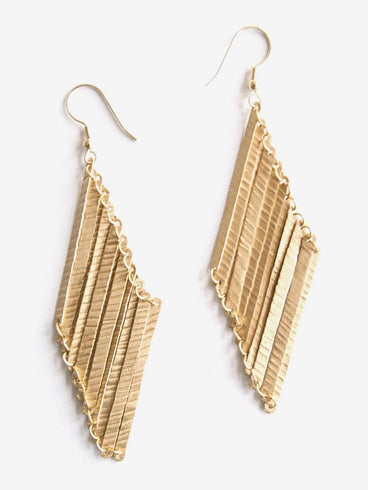 Layered Lines Earrings Gold