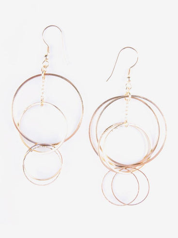 Loop Di Loop Earrings Gold