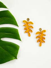 Matisse Leaf Earrings Amber