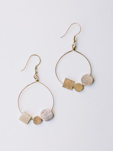 Melodic Stone Earrings Gold