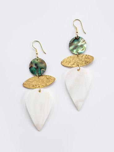 Mykonos Earrings Shell