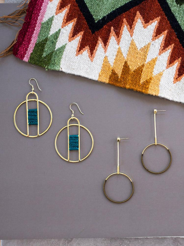 Pendulum Earrings Gold