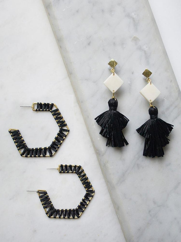 Piccadilly Earrings Black