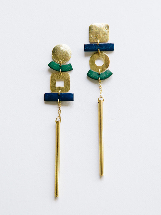 Pop Art Earrings Blue
