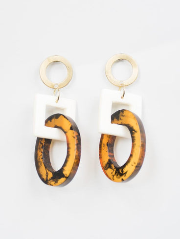 Priyanka Earrings Tortoiseshell