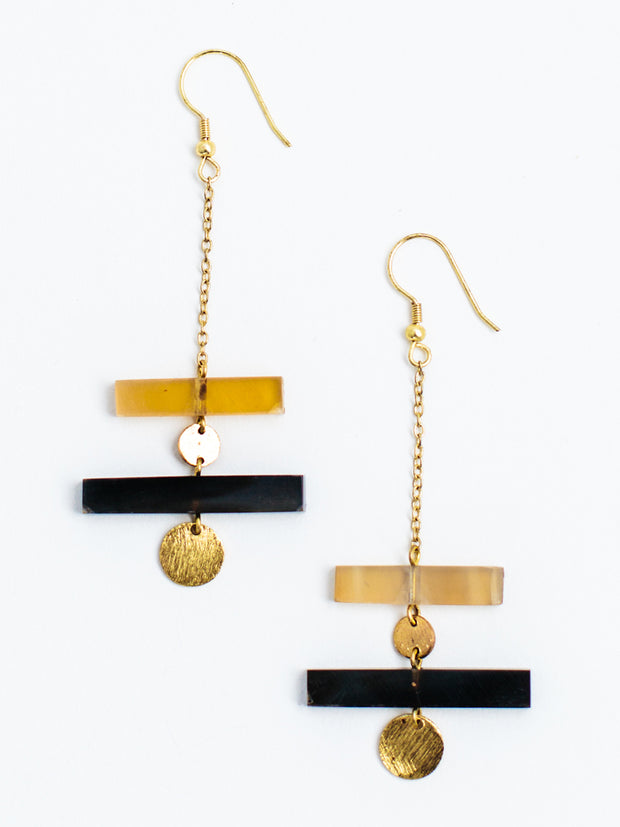 Raise The Bar Earrings Gold