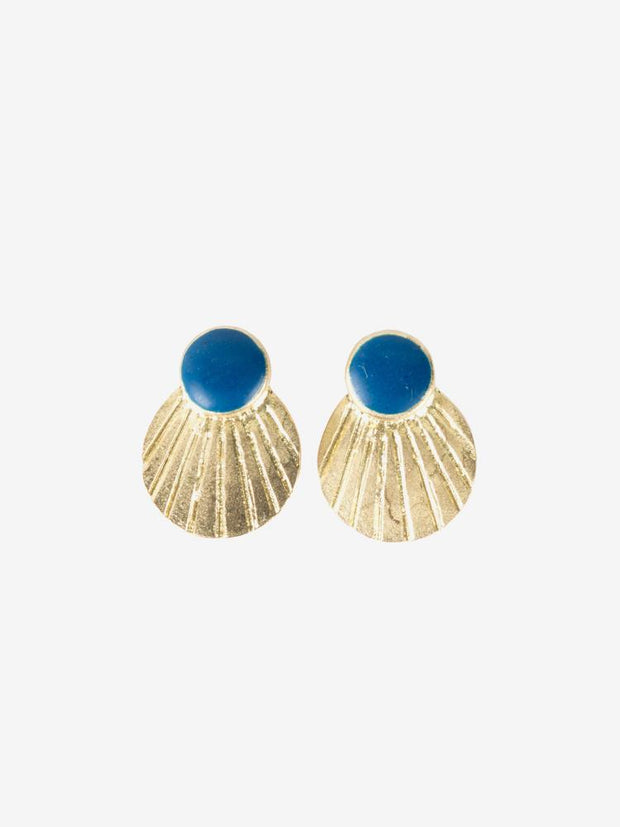 Scallop Studs Blue