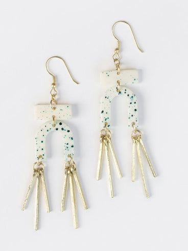Seurat Speckle Earrings Blue